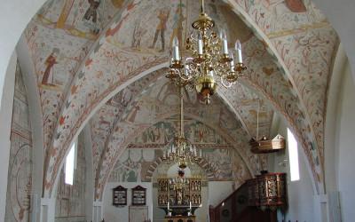 Kalkmalerier i Keldby Kirke